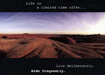 deliberate ride